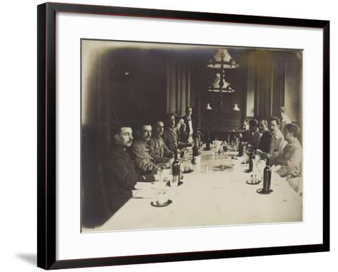 French Convalescents Having Lunch in Hospital, January 1916--Framed Art Print