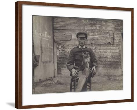 Bouddha, the Pet Cat of a Squadron of Lancers on the Belgian Front--Framed Art Print