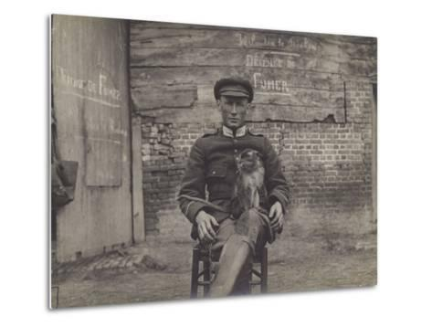 Bouddha, the Pet Cat of a Squadron of Lancers on the Belgian Front--Metal Print
