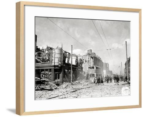 A Street in Ruins after German Bombing, London, United Kingdom, 1944--Framed Art Print