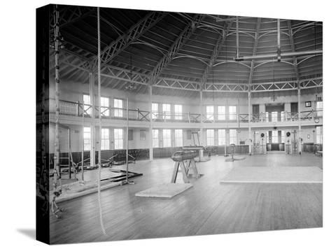 Gymnasium Interior, U.S. Naval Academy, C.1890-1901--Stretched Canvas Print