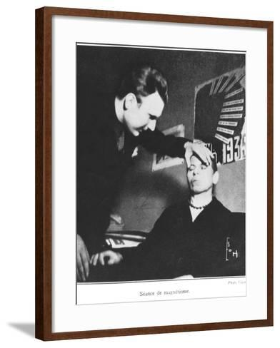 Magnetism Session, Illustration from a Book by Dom Neroman, Published 1937--Framed Art Print