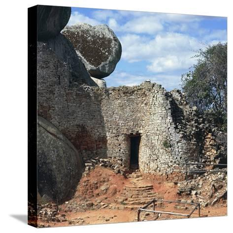 Covered Walkway to Royal Residence, Ruins of Great Zimbabwe--Stretched Canvas Print
