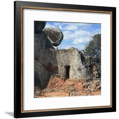 Covered Walkway to Royal Residence, Ruins of Great Zimbabwe--Framed Art Print
