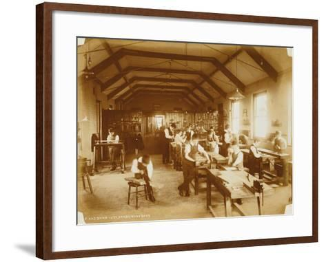 The Workshop at the Deaf and Dumb Institution, Derby, 19th Century--Framed Art Print