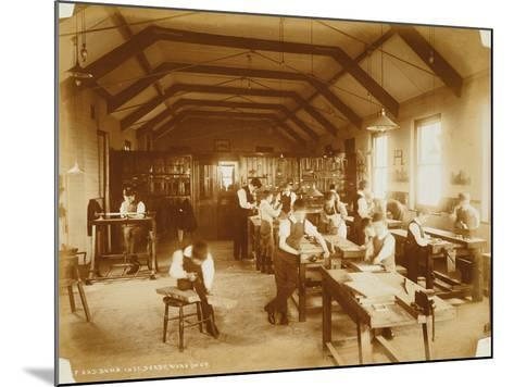 The Workshop at the Deaf and Dumb Institution, Derby, 19th Century--Mounted Photographic Print