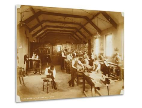 The Workshop at the Deaf and Dumb Institution, Derby, 19th Century--Metal Print