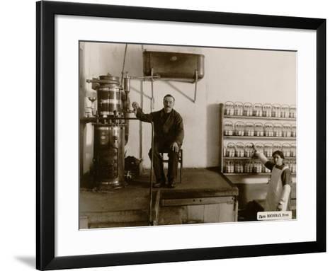 Sterilisation of Baby Bottles at the Goutte De Lait Brestoise, 1910--Framed Art Print