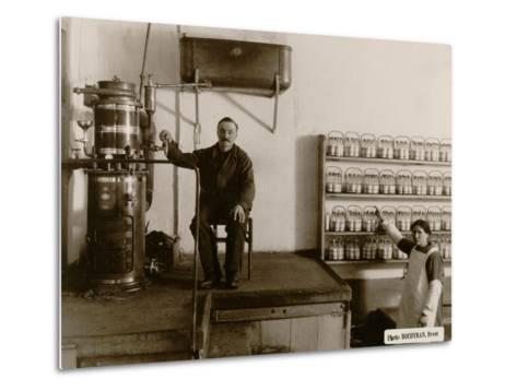 Sterilisation of Baby Bottles at the Goutte De Lait Brestoise, 1910--Metal Print