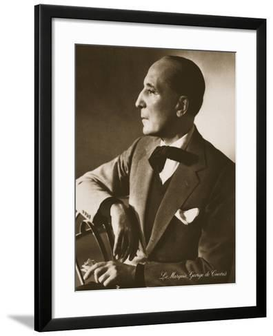 The Marquis George De Cuevas, from 'Grand Ballet De Monte-Carlo', 1949--Framed Art Print