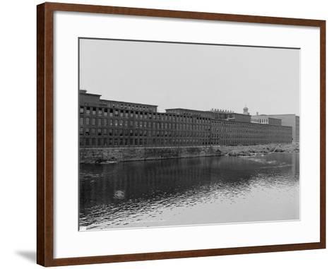 Mills on the Merrimack River, Lowell, Massachusetts, C.1908--Framed Art Print