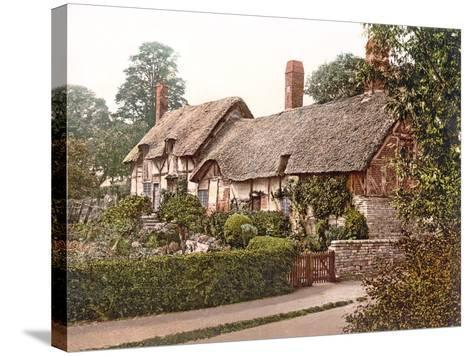Anne Hathaway's Cottage in Stratford-Upon-Avon, 1890-1900--Stretched Canvas Print