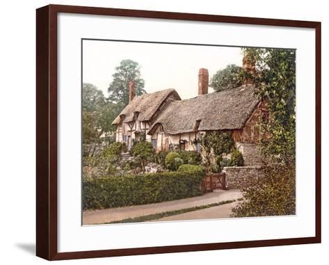Anne Hathaway's Cottage in Stratford-Upon-Avon, 1890-1900--Framed Art Print