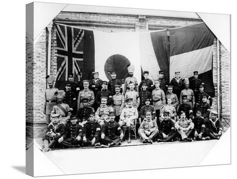 British, French, German and Japanese Officers in Shanghai, 1900--Stretched Canvas Print
