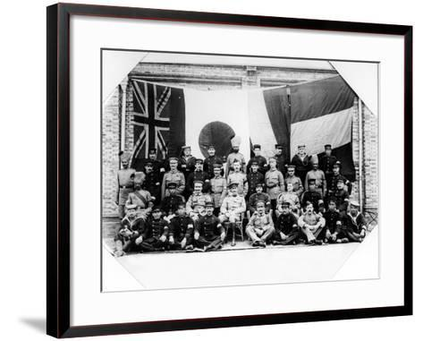 British, French, German and Japanese Officers in Shanghai, 1900--Framed Art Print