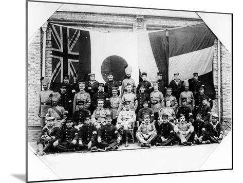 British, French, German and Japanese Officers in Shanghai, 1900--Mounted Photographic Print