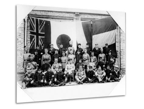 British, French, German and Japanese Officers in Shanghai, 1900--Metal Print