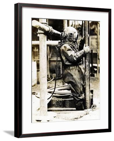 Weight of Dress 200Lbs: the Diver at Winchester Cathedral, 1900S--Framed Art Print