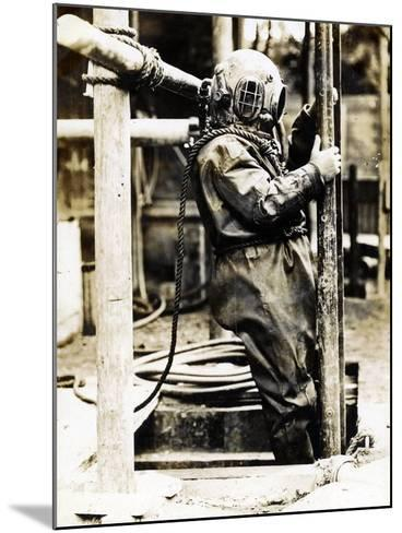 Weight of Dress 200Lbs: the Diver at Winchester Cathedral, 1900S--Mounted Photographic Print