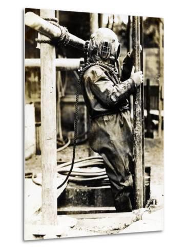 Weight of Dress 200Lbs: the Diver at Winchester Cathedral, 1900S--Metal Print