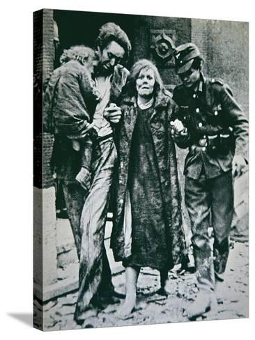 German Victims of the Allied Bombing of Mannheim, 1945--Stretched Canvas Print
