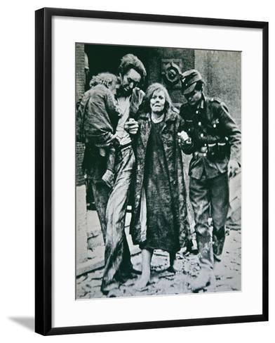 German Victims of the Allied Bombing of Mannheim, 1945--Framed Art Print