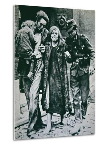 German Victims of the Allied Bombing of Mannheim, 1945--Metal Print