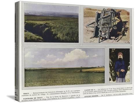 Trocy, Caisson De 77, Panorama De Trocy, Officier Indigene-Jules Gervais-Courtellemont-Stretched Canvas Print