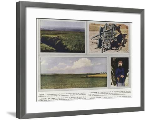 Trocy, Caisson De 77, Panorama De Trocy, Officier Indigene-Jules Gervais-Courtellemont-Framed Art Print