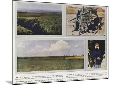 Trocy, Caisson De 77, Panorama De Trocy, Officier Indigene-Jules Gervais-Courtellemont-Mounted Photographic Print