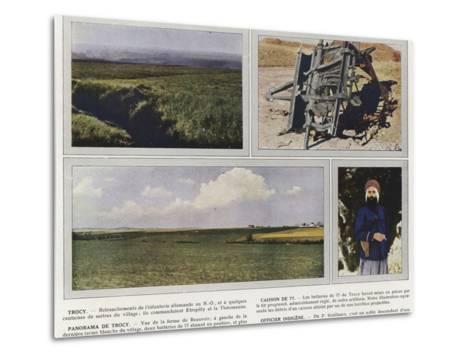 Trocy, Caisson De 77, Panorama De Trocy, Officier Indigene-Jules Gervais-Courtellemont-Metal Print