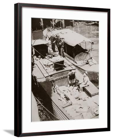 A Rum-Running Boat Caught Smuggling in 2,000 Bottles--Framed Art Print