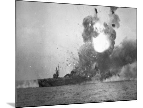 USS St. Lo Explodes, Battle of Leyte Gulf, October 1944--Mounted Photographic Print