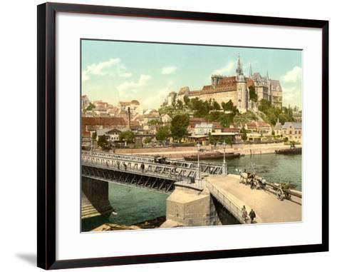 View of Albrechtsburg and Meissen Cathedral from Elbe, Pub. C.1895--Framed Art Print