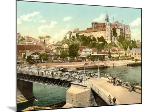 View of Albrechtsburg and Meissen Cathedral from Elbe, Pub. C.1895--Mounted Photographic Print