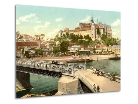 View of Albrechtsburg and Meissen Cathedral from Elbe, Pub. C.1895--Metal Print