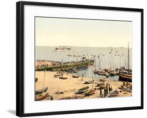 The Beach and Pier, Helgoland, Germany, Pub. C.1895--Framed Art Print