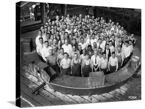Employee Group Portrait, Within a Section of the Hale Telescope, C.1936-48--Stretched Canvas Print