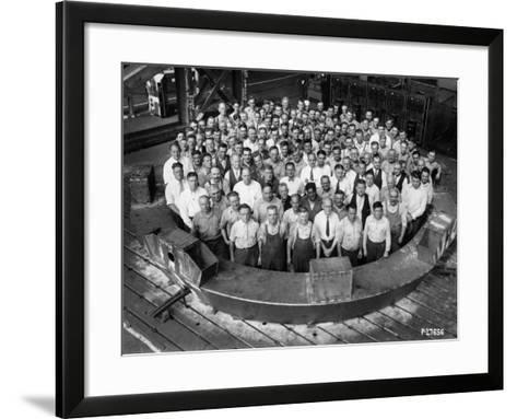 Employee Group Portrait, Within a Section of the Hale Telescope, C.1936-48--Framed Art Print