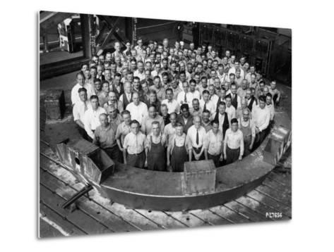 Employee Group Portrait, Within a Section of the Hale Telescope, C.1936-48--Metal Print