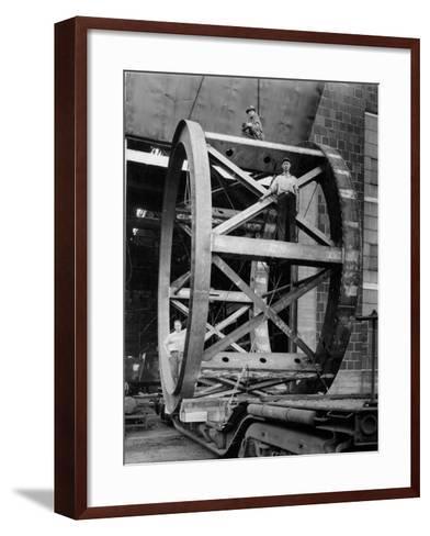 Transporting of the Framework of the Hale Telescope, C.1936-48--Framed Art Print
