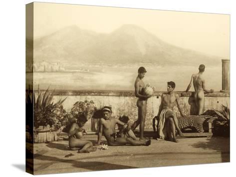 A Classical Scene, Tierra Del Fuego, South America. C.1899-Wilhelm Von Gloeden-Stretched Canvas Print