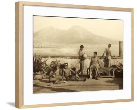 A Classical Scene, Tierra Del Fuego, South America. C.1899-Wilhelm Von Gloeden-Framed Art Print