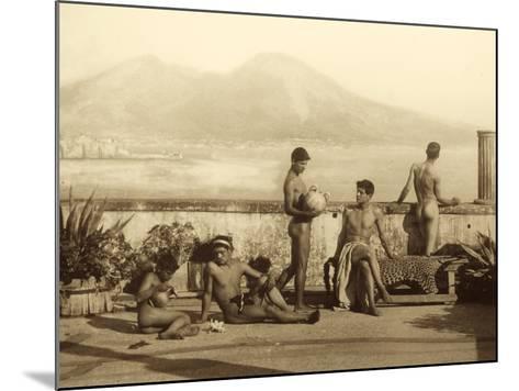 A Classical Scene, Tierra Del Fuego, South America. C.1899-Wilhelm Von Gloeden-Mounted Photographic Print
