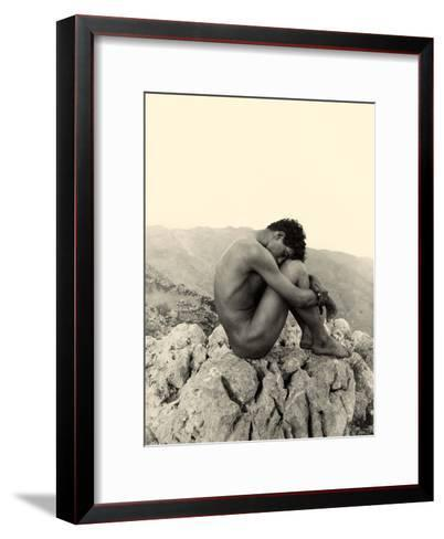 Study of a Male Nude on a Rock, Taormina, Sicily, C.1900 ...
