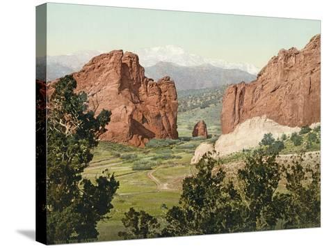 Pike's Peak, the Gateway to the Garden of the Gods, Colorado, 1900--Stretched Canvas Print