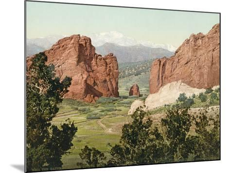Pike's Peak, the Gateway to the Garden of the Gods, Colorado, 1900--Mounted Photographic Print