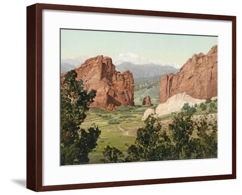 Pike's Peak, the Gateway to the Garden of the Gods, Colorado, 1900--Framed Art Print