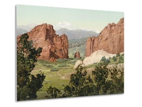 Pike's Peak, the Gateway to the Garden of the Gods, Colorado, 1900--Metal Print