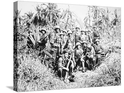 US Marine Raiders, Cape Torokina, Bougainville, November 1943--Stretched Canvas Print